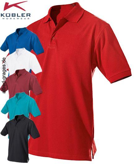 200 g m², 60° waschbar, bequem geschnitten, Kübler Polo mit Nackenband,  Seitenschlitze, 30 1 Piqué Sanfor, in rot, weiß, kbl.blau, bordeaux, ... bd4049a84c