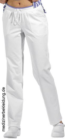 1d689b7b592d Damen Arbeitshose weiß Gummizug 50% Baumwolle, 50% Polyester. Ca. 210 g m²,  95° waschbar, Leiber Schlupfhose Damen weiß,