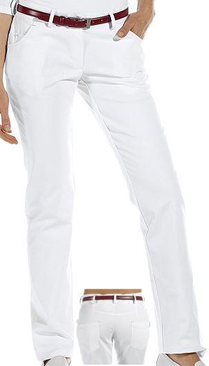 c687baf92074c4 Damenhose weiß gerades Bein 97% Baumwolle, 3% Elastolefin. Ca. 270 g/m²,  95° waschbar, Classic-Style, Stretch, Leiber Hose Damen in  Five-Pocket-Form, ...