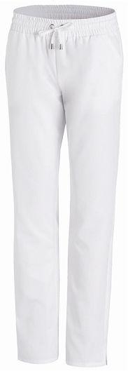 Damen Arbeitshose weiß 50% Polyester, 50% Lyocell. Ca. 190 g m², 95°  waschbar, TENCEL-Gewebe, Classic-Style, Leiber Damen Schlupfhose mit  Rundumgummibund ... 578b85ec2c