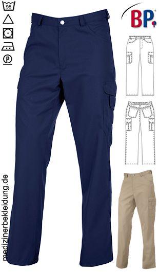 d4c63ede7e73 65% Polyester, 35% Baumwolle. Ca. 215 g m², pflegeleicht,  Industriewäsche-geeignet. Jeansform, BP Hose mit 2 Seitentaschen, 2  Gesäßtaschen, ...