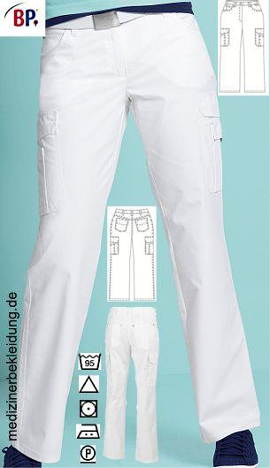 225c8815192c 48% Baumwolle, 48% Polyester, 4% Elastolefin. Ca. 230 g m, Comfortec  Stretch, pflegeleicht, Industriewäsche-geeignet, Five-Pocket-Form, BP Damen  Hose mit 2 ...