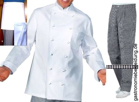 Herren 2tlg Koch SET Kochjacke Kochhose Kochbekleidung 46 48 50 52 54 56 NEU