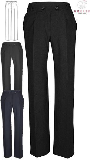a3db33bfd12c 200 g m², Comfort Fit, Greiff Damenhose in schwarz, anthrazit und  marineblau erhältlich, 2 Schubtaschen, Kartentasche, Gürtelschlaufen,  Schrittlänge ca.