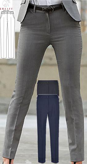 190 g m², 30° waschbar, Stretch, Greiff Hose Damen MODERN-Line, Slim Fit,  hohe Leibhöhe, Zigarettenform, knöchellang, 2 Seitentaschen, 2 blinde  Gesäßtaschen ... 0c262cc70f