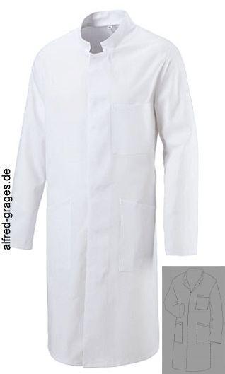Arbeitsmantel Berufsmantel Berufskittel Kittel Weiss Baumwolle Gr.56 Kleidung