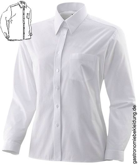 288956# Damen blau weißes Hemd KD 40 Hemden 288956# Damen